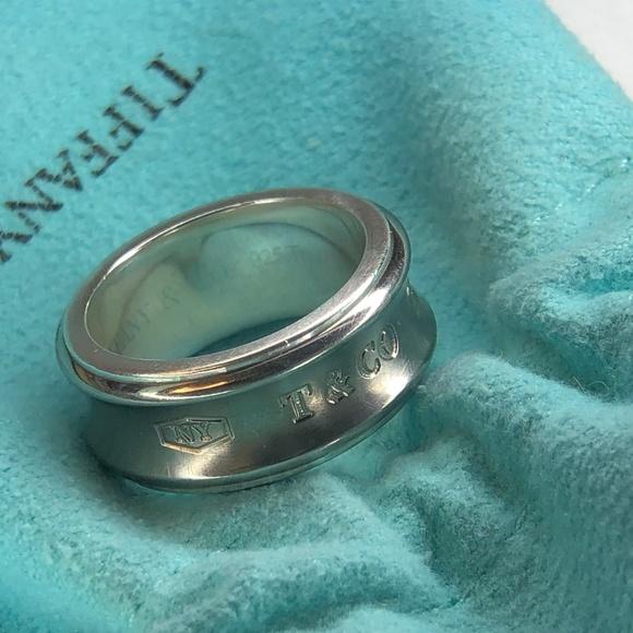 fae5feeb9 Tiffany & Co. Jewelry   1837 Concave Titanium Band Ring 925 Ti Size ...